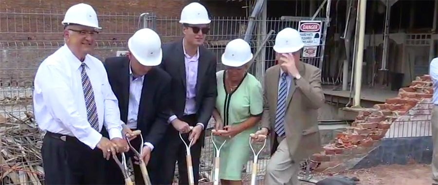 Officials break ground for new Commodore building in Easton